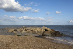 Southwold strand, Suffolk, England arkivbilder