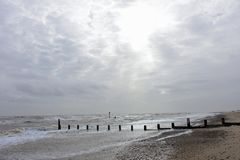 Rough Seas at Southwold, Suffolk, UK Royalty Free Stock Photography