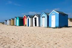 Free SOUTHWOLD, SUFFOLK/UK - JUNE 2 : Colourful Beach Huts In Southwold Suffolk On June 2, 2010 Stock Images - 73090614
