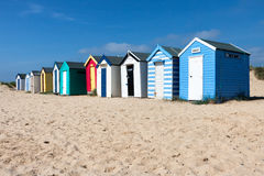 SOUTHWOLD, SUFFOLK/UK - JUNE 2 : Colourful Beach huts in Southwo Stock Images