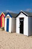 SOUTHWOLD, SUFFOLK/UK - JUNE 2 : Colourful Beach huts in Southwo Stock Photos
