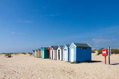 SOUTHWOLD, SUFFOLK/UK - JUNE 2 : Colourful Beach huts in Southwo Stock Photography
