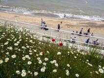SOUTHWOLD, SUFFOLK/UK - JUNE 11 : People Enjoying the Promenade Stock Photography