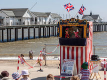 SOUTHWOLD, SUFFOLK/UK - JUNE 2 : Punch and Judy show in Southwol Stock Photography