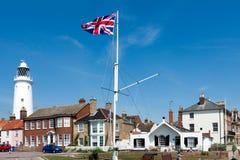 SOUTHWOLD, SUFFOLK/UK - JUNE 2 : Union jack flag flying near the Royalty Free Stock Image