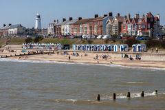 SOUTHWOLD, SUFFOLK/UK - JUNE 2 : View of the beach at Southwold Royalty Free Stock Photo
