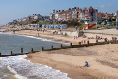 SOUTHWOLD, SUFFOLK/UK - JUNE 2 : View of the beach at Southwold Stock Photography