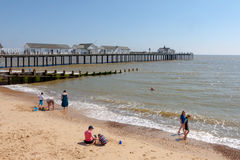 SOUTHWOLD, SUFFOLK/UK - JUNE 2 : View of the pier and beach at S Stock Photography