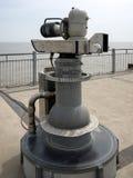 SOUTHWOLD SUFFOLK/UK - JUNI 11: Quantun som gräver teleskopnolla Royaltyfri Foto