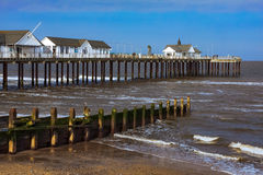 SOUTHWOLD, SUFFOLK/UK - 31 MAI : Arrangement de Sun sur le pilier S de Southwold Image stock