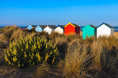 SOUTHWOLD, SUFFOLK/UK - MAY 31 : Colourful Beach huts in Southwo Stock Image