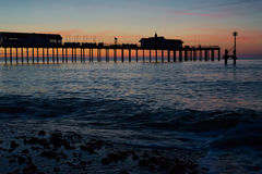 SOUTHWOLD, SUFFOLK/UK - MAY 24 : Sunrise over Southwold Pier Suf Royalty Free Stock Photos