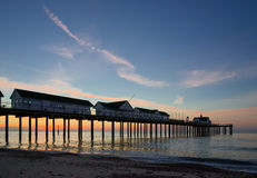 SOUTHWOLD, SUFFOLK/UK - MAY 24 : Sunrise over Southwold Pier Suf Stock Photography