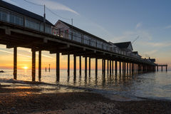 SOUTHWOLD, SUFFOLK/UK - MAY 24 : Sunrise over Southwold Pier Suf Royalty Free Stock Images