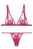 Soutien-gorge et culottes roses, lingerie de femme Photos libres de droits
