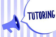 Soutien scolaire des textes d'écriture de Word Concept d'affaires pour un acte d'une personne employée pour administrer la connai illustration de vecteur