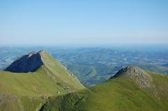 souturou górskich szczytów Pireneje Fotografia Stock