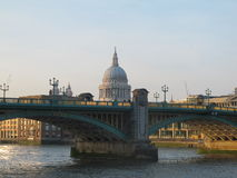 Soutwark Bridge and St. Paul's Cathedral Stock Photos
