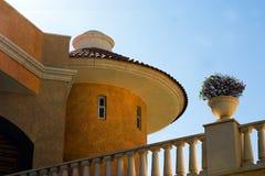 Soutwest architecture. An orange stucco building of soutwest architecture Royalty Free Stock Images