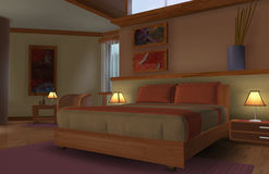 Soutwestern Bedroom in the morning Stock Photography