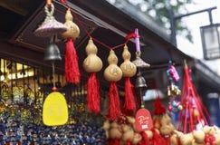 Souvenir à la rue de marche à Chengdu, Chine Images libres de droits