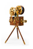 Souvenir. Antique film projector isolated on a white background Stock Photography
