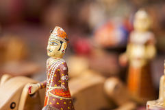 Souvenir av miniatyrstatyetten av den Mughal kungliga personen av Indien royaltyfria foton