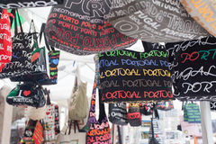 Souvenir bags in the market. Royalty Free Stock Photography