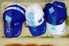 Souvenir Baseball Caps, Thassos, Greece Stock Image