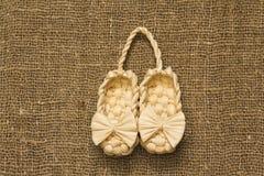 Souvenir bast shoe Royalty Free Stock Photo