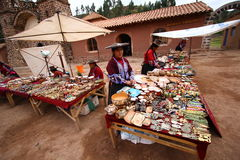 Souvenir Bazaar in Raqchi. Peru Stock Photos