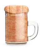 Souvenir beer mug with fake wooden beer Stock Photos