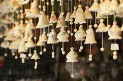 Souvenir Bells At The Market Stock Photography