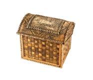 Souvenir birch bark box Royalty Free Stock Image