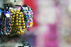 Souvenir bracelets. With copy space royalty free stock photo