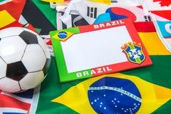 Souvenir of Brazil style background frame Stock Photography