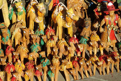 Souvenir camel figures in Morocco Royalty Free Stock Image