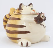 Souvenir cat with mouse. Souvenir cat with great mouse Royalty Free Stock Photo