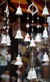 Souvenir ceramic bells at the market Stock Photography
