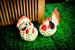 Souvenir chicken Stock Photo