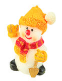 Souvenir Christmas candle as a snowman form Stock Images