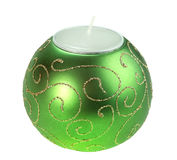 Souvenir Christmas candle as a sphere form Stock Photos