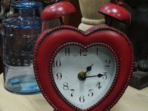 Souvenir clock in the form of heart Royalty Free Stock Image