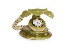 Souvenir clock telephone Royalty Free Stock Photos