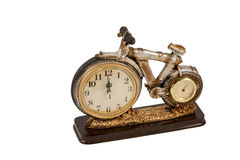 Souvenir clock with thermometer Stock Images