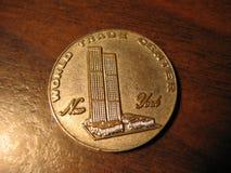 Souvenir Coin from original World Trade Center, New York, USA. Souvenir Coin from original World Trade Center in New York, USA stock photo