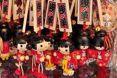 Souvenir coloré japonais de Keychain Photos stock