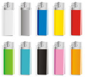Souvenir color lighters Stock Images