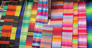 Souvenir colored bedspreads Stock Photography