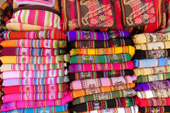 Souvenir colored bedspreads Royalty Free Stock Photography
